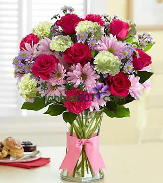 鲜花:全部的爱 22枝红玫\红康