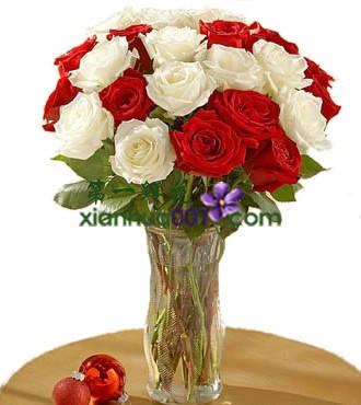鲜花:1314我爱你 27枝玫瑰花