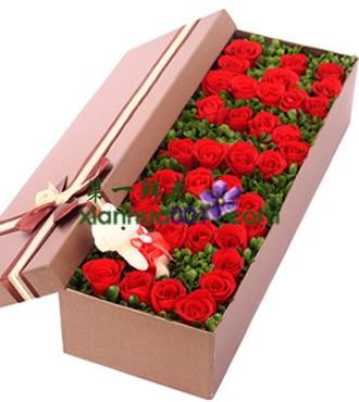 鲜花:完美的爱 33枝红玫瑰