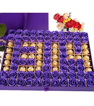 香皂花巧克力礼盒1314(快递)