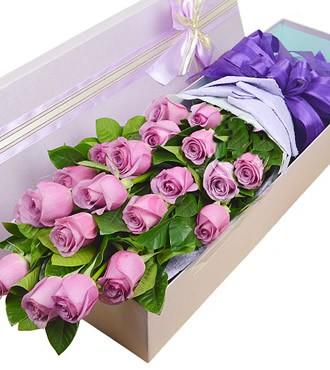 鲜花:彼此深爱 19枝紫玫瑰