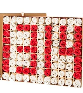香皂花99朵红白花(快递)