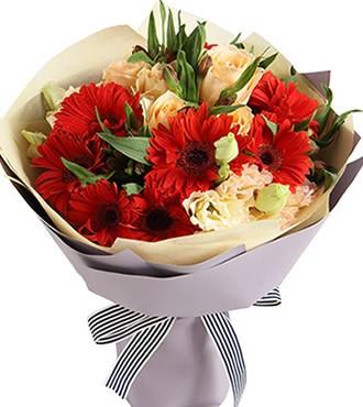 鲜花:好心情 23枝扶郎玫瑰