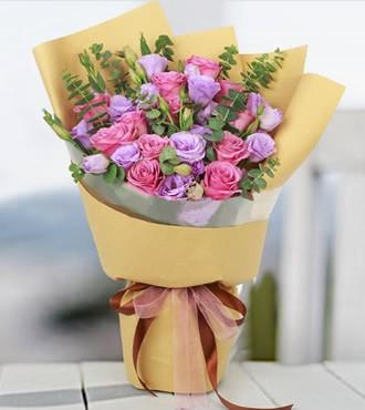 鲜花:紫对你有感觉 12枝紫玫