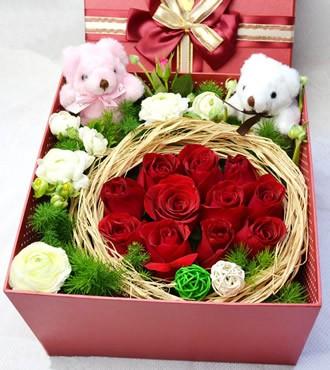 鲜花:缘分天空 11枝红玫瑰