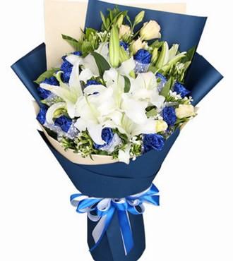 鲜花:恋上你 11枝蓝色妖姬