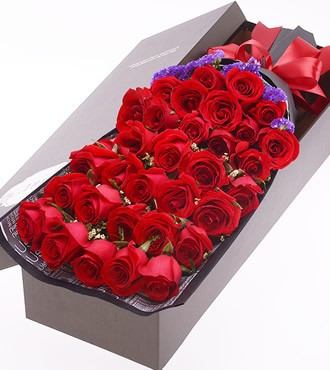 鲜花:相知相守  33枝玫瑰