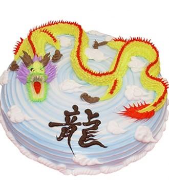 蛋糕:金龙腾飞