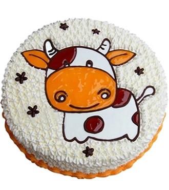蛋糕:可爱牛牛