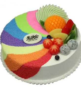 蛋糕:彩色的梦