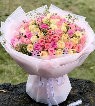 鲜花:爱你真情永不变 99枝