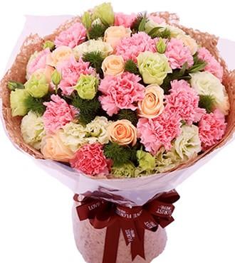 鲜花:牵挂 22枝康乃馨