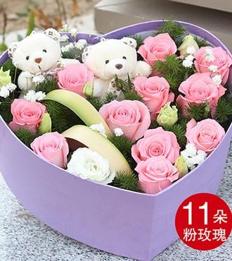 鲜花:朝朝暮暮 11枝玫瑰