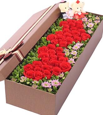 鲜花:我爱你在幸福里 33枝