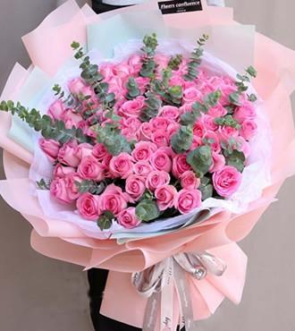 鲜花:不变的爱 99枝粉玫瑰