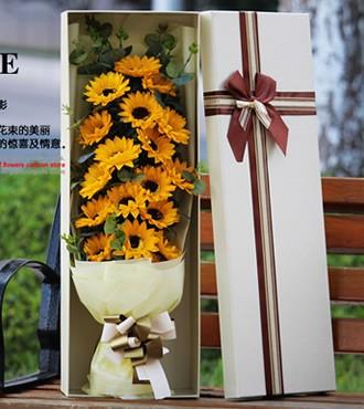 你是我的太阳 19枝向日葵香皂花(快递)