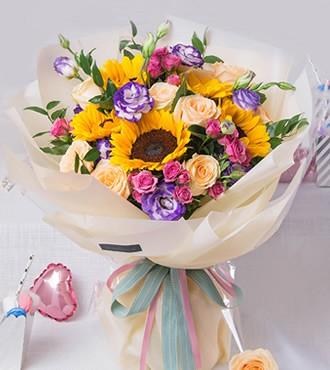 鲜花:梦想启程 香槟向日葵