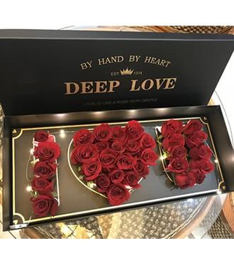 鲜花:love玫瑰发光 33枝