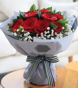 鲜花:简单的幸福 11枝红玫瑰