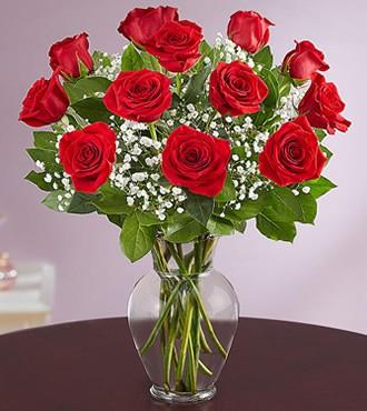 鲜花:爱你到永远 12枝红玫瑰