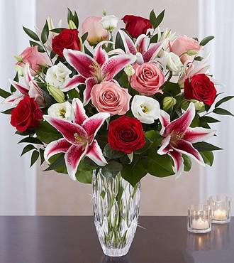 鲜花:溢彩 8枝粉香水百合