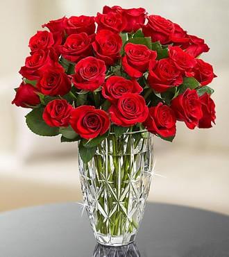 鲜花:缘牵一生 24枝红玫瑰