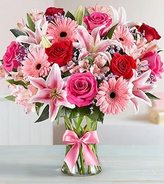 鲜花:炙热的爱 19枝混搭