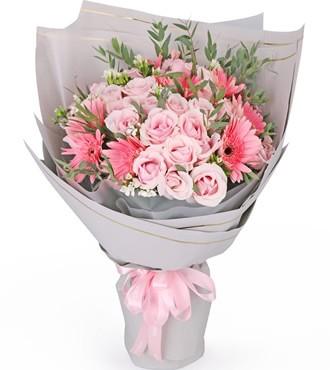 鲜花:灿烂心情 33枝混搭