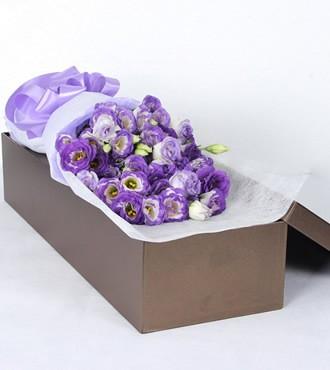 鲜花:洋桔梗鲜花礼盒