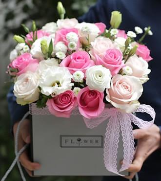 鲜花:爱到永久创意花盒