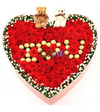 鲜花:最爱是你 99枝玫瑰