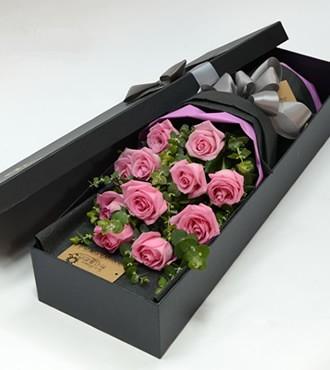 鲜花:想你的心 11枝苏醒玫瑰