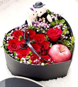 鲜花:柔情蜜意 11枝红玫瑰