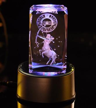 3D水晶内雕-射手座(11月22日-12月21日)