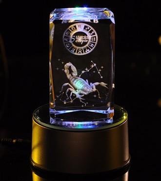 3D水晶内雕-天蝎座(10月23日-11月21日)