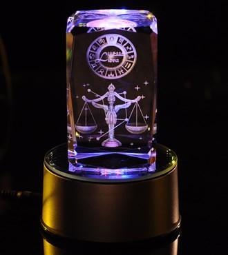 3D水晶内雕-天秤座(9月23日-10月23日)