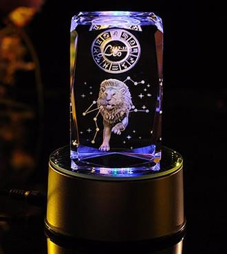 3D水晶内雕-狮子座(7月23日-8月22日)