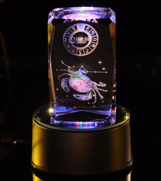 3D水晶内雕-巨蟹座(6月22日-7月22日)