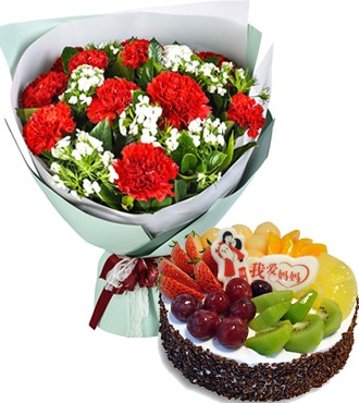 鲜花蛋糕:幸福的味道 11枝
