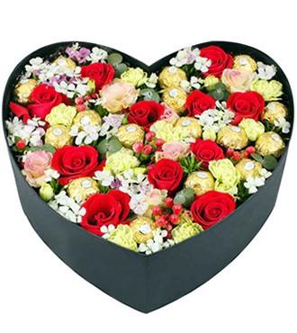 鲜花:动情在心 11枝红玫瑰