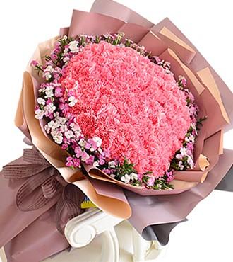 鲜花:养育之恩 99枝康乃馨