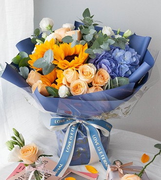 鲜花:星河璀璨 混搭花束