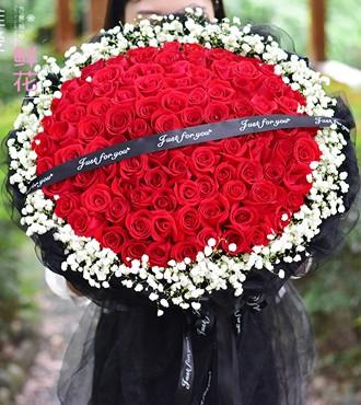 鲜花:让我陪伴着你 99枝红玫