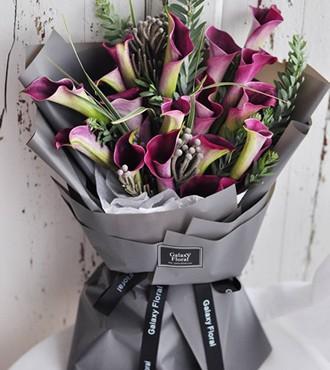鲜花:我只钟情你 19枝马蹄莲
