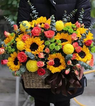花篮:美轮美奂 向日葵