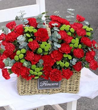 花篮:谢谢您的爱 44枝康乃馨