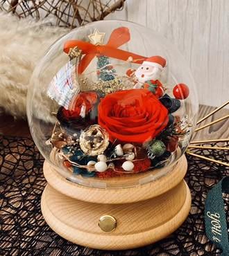 永生花:蓝牙音箱 圣诞快乐