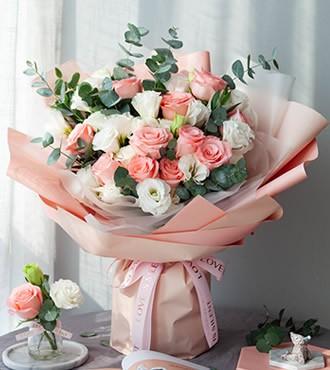 鲜花:公主的假日 11枝粉玫瑰