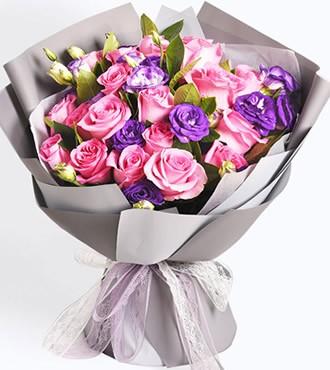 鲜花:知心爱人 21枝粉玫瑰