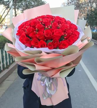 鲜花:爱你三生三世 36枝玫瑰